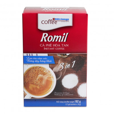 Romil instant coffee - Bùi Văn Ngọ Coffee. Clean, without chemicals. Qualified HACCP & ISO